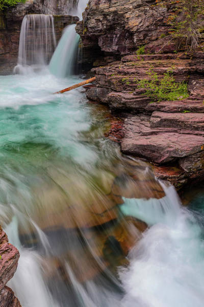 Wall Art - Photograph - St Mary Falls In Glacier National Park by Chuck Haney