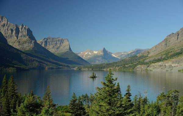 Wall Art - Photograph - St. Mary Lake With Wild Goose Island by Sandy L. Kirkner