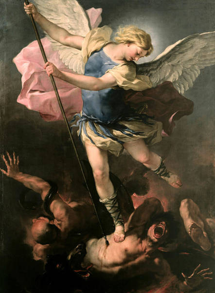 Painting - St. Michael by Luca Giordano