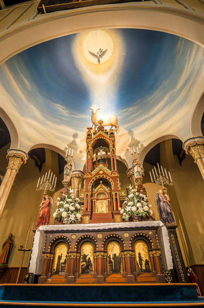 Photograph - St. Michael The Archangel Church Altar by Andy Crawford