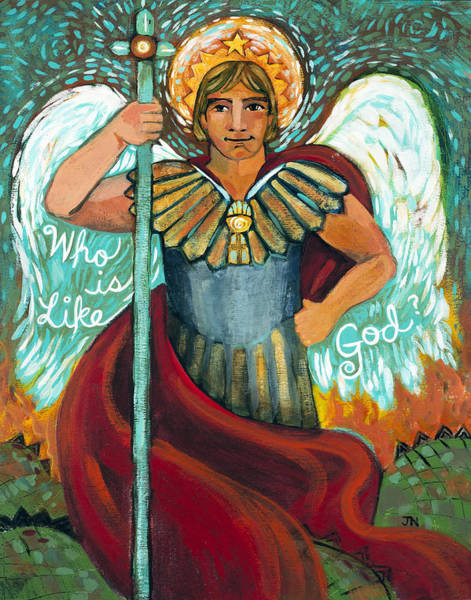 Daniel Wall Art - Painting - St. Michael The Archangel by Jen Norton