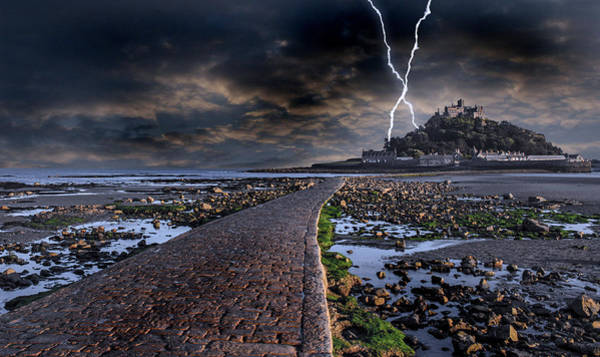 St Michaels Church Photograph - St Michael's Mount Cornwall by Martin Newman