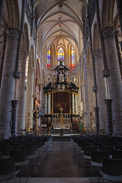 Photograph - St Nicholas Church Ghent by Joan Carroll