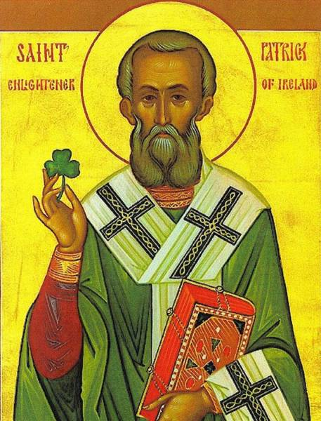 St Patricks Painting - St Patrick And The Shamrock by Pam Neilands