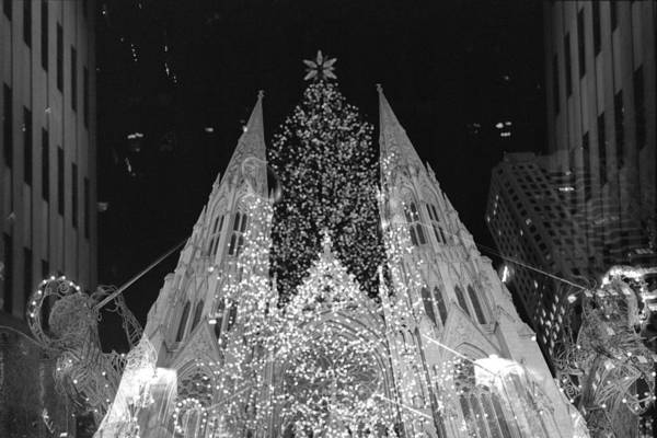 Photograph - St Patricks And Rockefeller Center by Dave Beckerman
