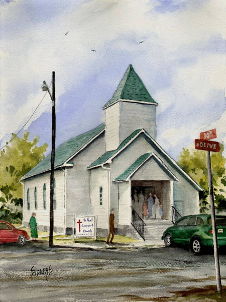 Painting - St. Paul Congregational Church by Sam Sidders