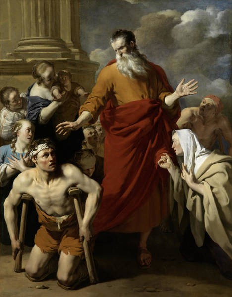 Healing Drawing - St Paul Healing The Cripple At Lystra, Karel Dujardin by Litz Collection