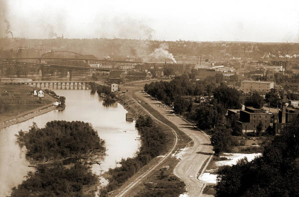 Mississippi River Drawing - St. Paul, Minn, Rivers, Islands, United States by Litz Collection