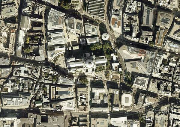 Road Map Photograph - St Paul's Cathedral, Aerial Photograph by Getmapping Plc