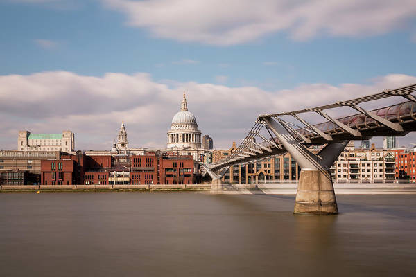 English Culture Photograph - St Pauls Cathedral And Millenium Bridge by  Ultraforma
