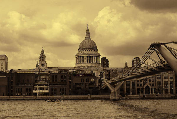 Bankside Photograph - St Paul's Cathedral And Millennium Bridge London by Nicky Jameson