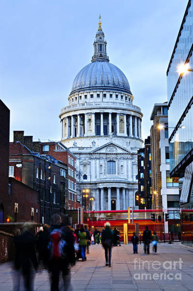 Wall Art - Photograph - St. Paul's Cathedral At Dusk by Elena Elisseeva