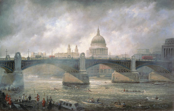 Wall Art - Painting - St. Paul's Cathedral From The Southwark Bank by Richard Willis