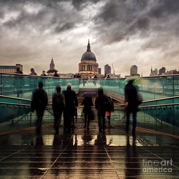 Wall Art - Photograph - St Paul's In The Rain by Jane Rix