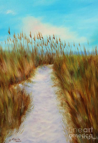 Wall Art - Painting - St Pete Beach Sand Dunes Path by Gabriela Valencia