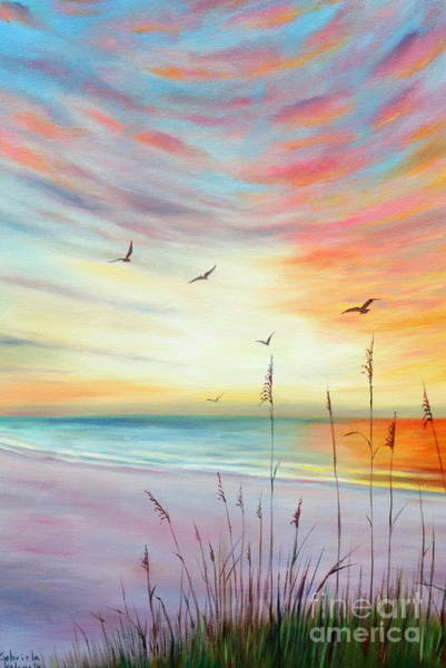 Wall Art - Painting - St. Pete Beach Sunset  by Gabriela Valencia