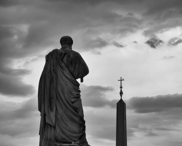 Saint Peters Square Photograph - St. Peter And The Obelisk by Kyle Wasielewski