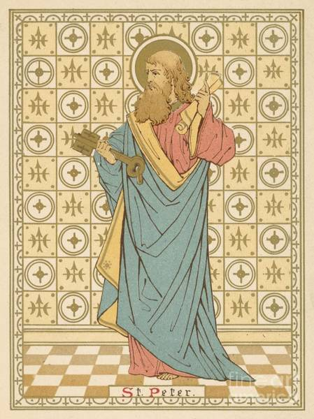 Wall Art - Painting - St Peter by English School