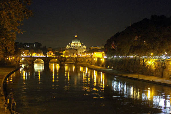 Photograph - St Peters At Night by Tony Murtagh