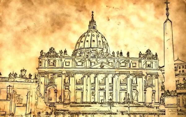 St Peters Basilica Photograph - St. Peter's Basilica by Dan Sproul