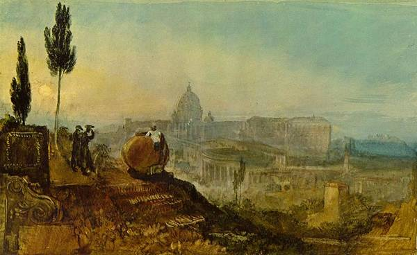 Wall Art - Painting - St Peters From The South 1819 by Philip Ralley