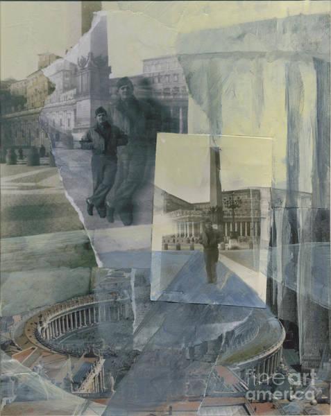 Wall Art - Mixed Media - St. Peter's Plaza 1944 by Ellen Moore Osborne