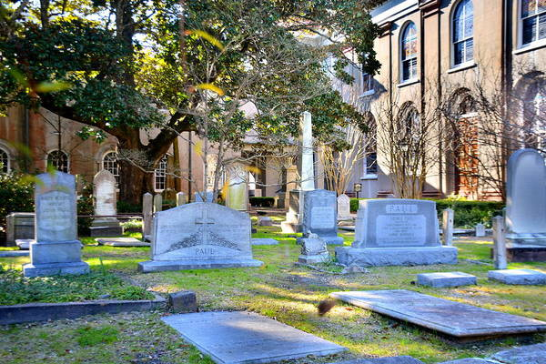 Photograph - St. Philips Church Cemetery Charleston Sc by Lisa Wooten