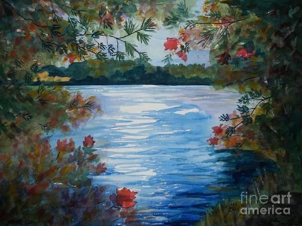 Wall Art - Painting - St. Regis Lake by Ellen Levinson