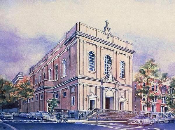 Painting - St Saviors Church  by Nancy Wait