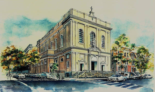 Painting - St. Saviours Church by Nancy Wait