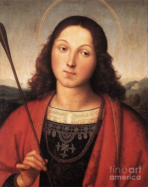 Redeemer Wall Art - Painting - St Sebastian by Celestial Images