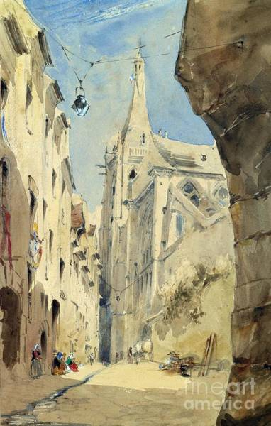 Narrow Street Painting - St. Severin Paris by James Holland