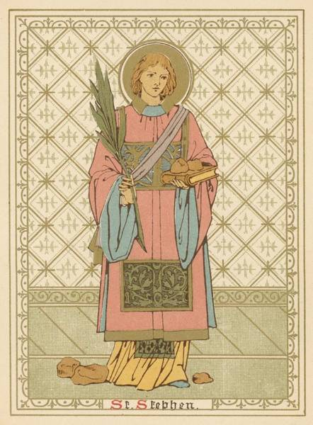 Wall Art - Painting - St Stephen by English School