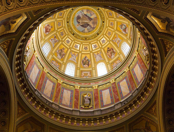 Photograph - St. Stephen's Basilica Ceiling by Dave Bowman