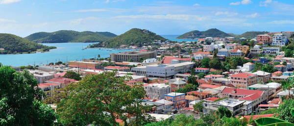 Photograph - St Thomas Harbor Panorama by Songquan Deng