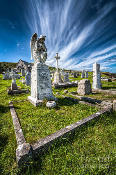 Grave Yard Photograph - St Tudno Graveyard by Adrian Evans