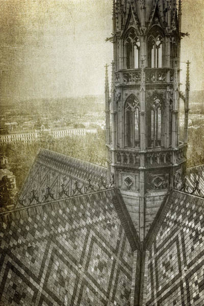 Photograph - St Vitus Cathedral South Tower View by Joan Carroll