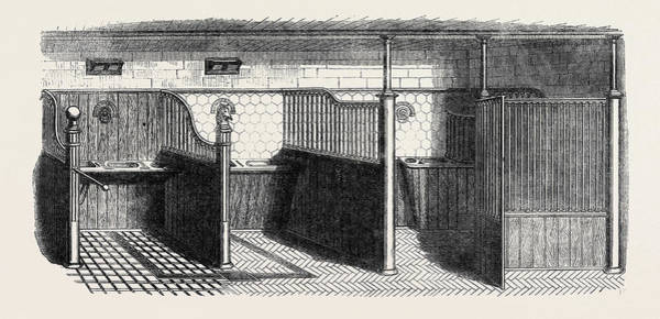 Wall Art - Drawing - Stable Fittings, Open Stall With Patent Sliding Barrier by Messrs. Musgrave Brothers Of Belfast