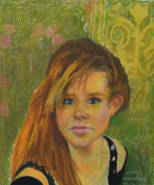 Bright Colours Mixed Media - Stacey by Janet Ashworth
