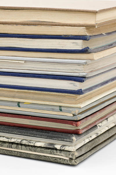 Wall Art - Photograph - Stack Of Old Year Books by Donald  Erickson