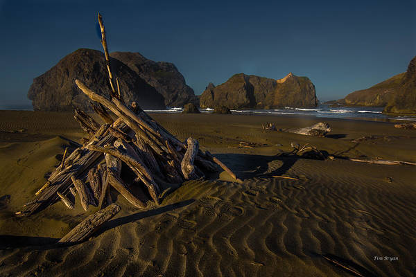 Photograph - Stacked....  Myers Beach   Oregon Coast by Tim Bryan