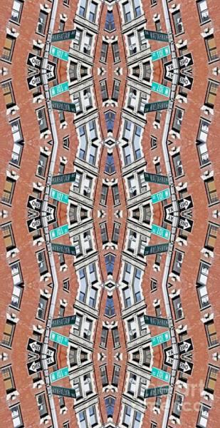 Red Brick Digital Art - Stacked City by Sarah Loft