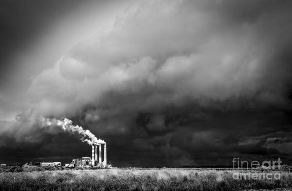 Pollution Photograph - Stacks In The Clouds by Marvin Spates