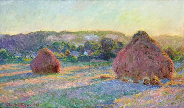 End Of Summer Photograph - Stacks Of Wheat. End Of Summer by Claude Monet