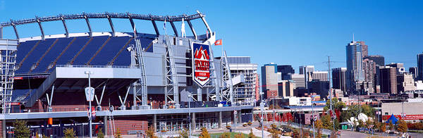 Mile High City Photograph - Stadium In A City, Sports Authority by Panoramic Images