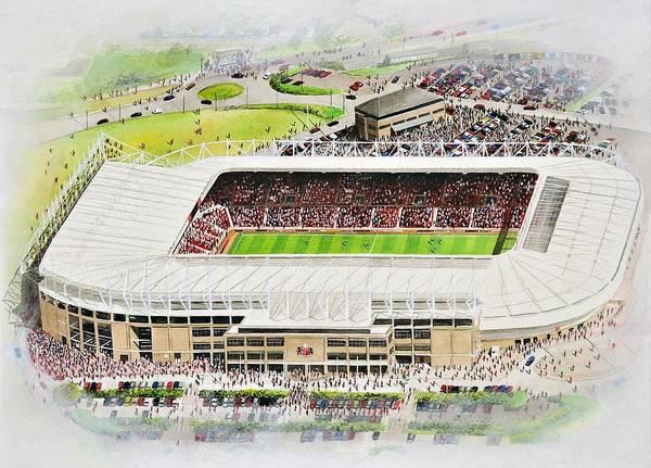 Wall Art - Painting - Stadium Of Light - Sunderland by Kevin Fletcher