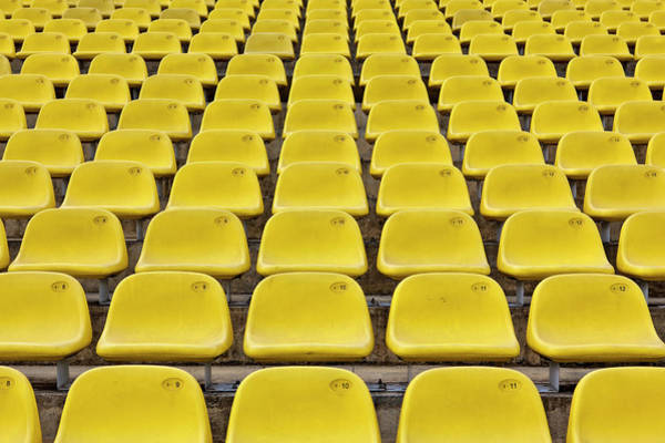 Photograph - Stadium Seats by 35007