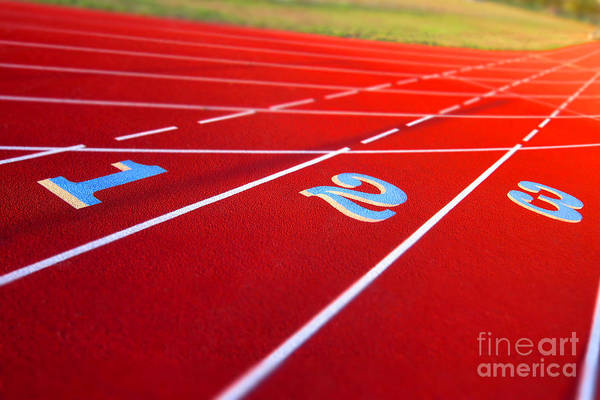 Photograph - Stadium Track by Olivier Le Queinec