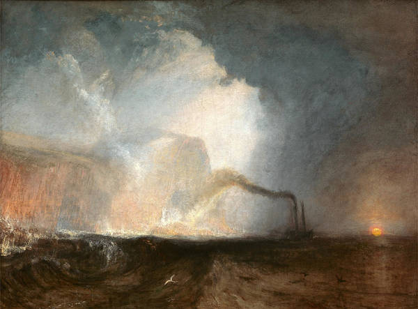 J. M. W. Turner Painting - Staffa, Fingals Cave Signed by Litz Collection