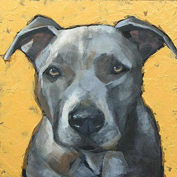 Staffordshire Wall Art - Painting - Staffordshire Bull Terrier by Mary Medrano